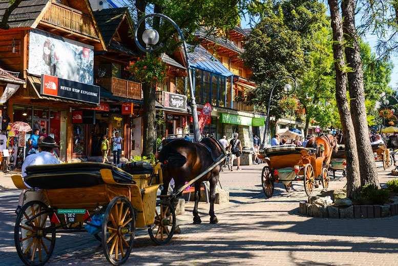 Calle Krupowki Zakopane - Tour Zakopane y los Montes Tatra en español con guía privado