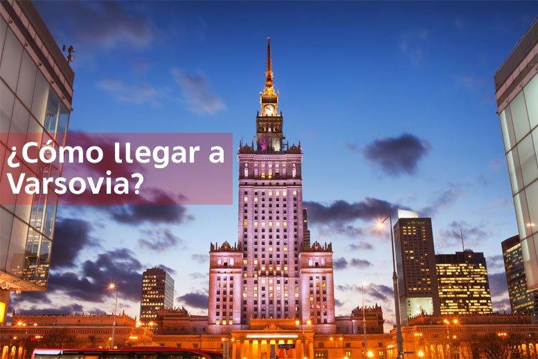 Como llegar a Varsovia