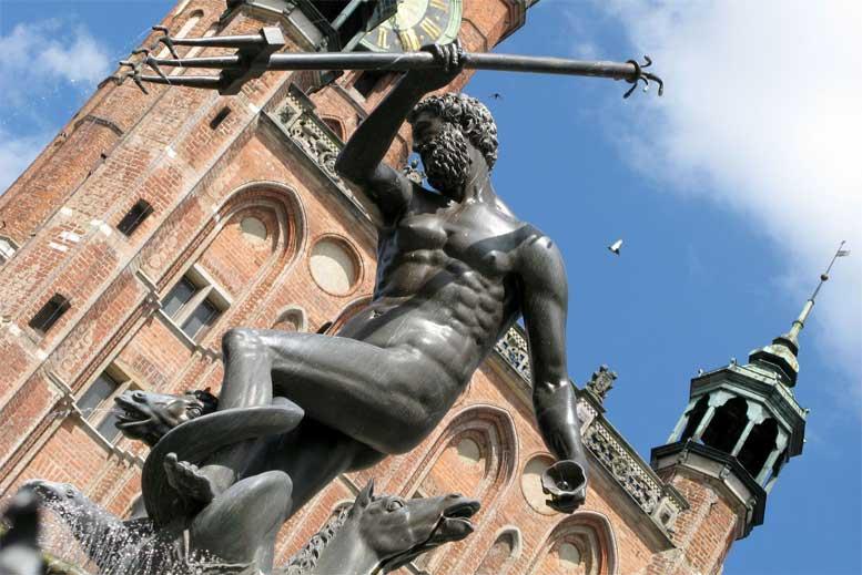 Estatua de Neptuno en Gdansk - Tour Gdansk Clásico en español con guía privado
