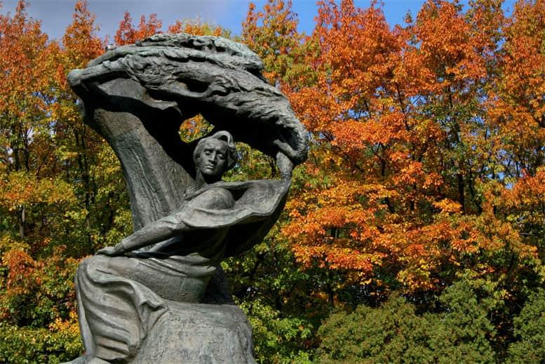 Monumento de Chopin Varsovia - Tour Parque Lazienki en español
