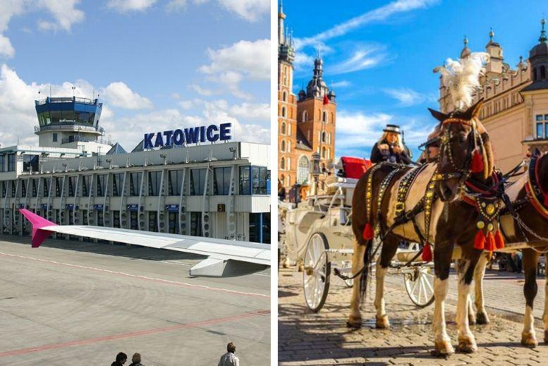 Traslado en privado desde el aeropuerto de Katowice - Pyrzowice (KTW) a Cracovia centro o viceversa sin asistencia