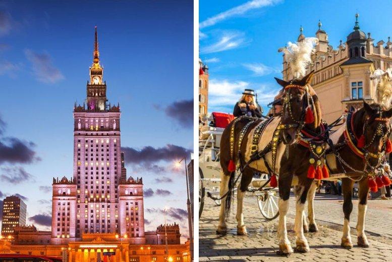 Traslados en privado desde Varsovia a Cracovia sin asistencia