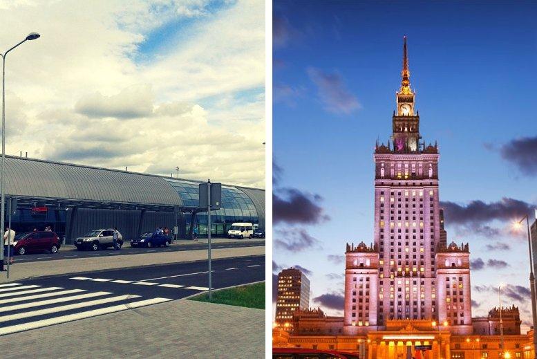 Traslados en privado desde el aeropuerto Varsovia Modlin (WMI) hasta Varsovia centro o viceversa sin asistencia