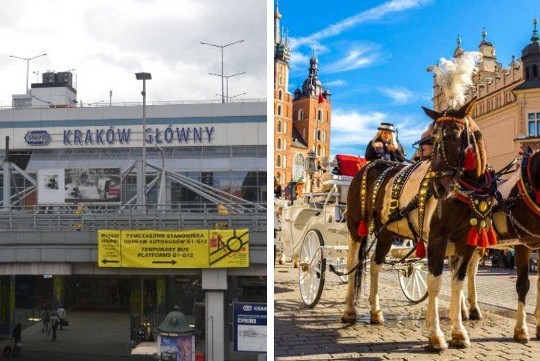 Traslados en privado desde la estación de trenes Kraków Główny a Cracovia centro o viceversa sin asistencia