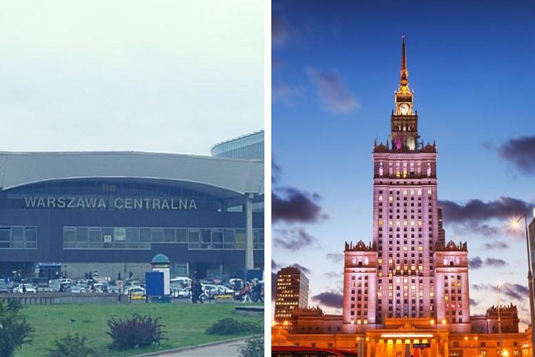 Traslados en privado desde la estación de trenes Warszawa Central hasta Varsovia centro o viceversa sin asistencia