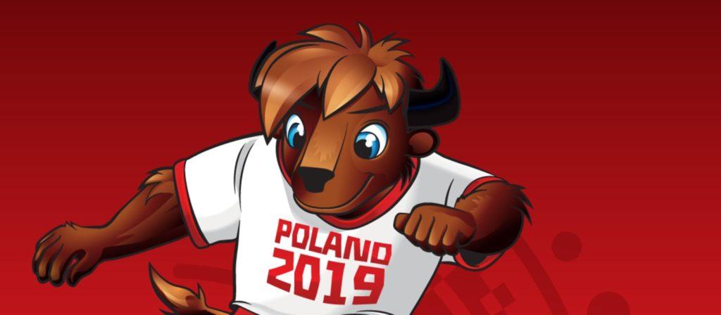 Mascota Oficial Mundial Sub20 Polonia 2019
