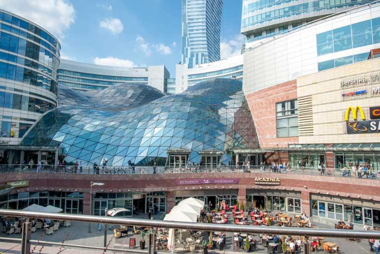 Centro Comercial Zloty Tarasy en Varsovia