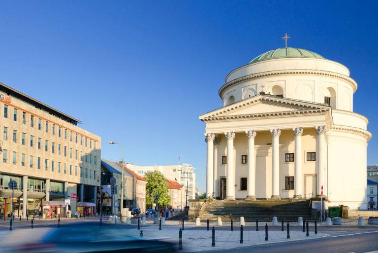 Plaza de las Tres Cruces en Varsovia
