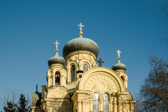 Iglesia ortodoxa Maria Magdalena Barrio de Praga en Varsovia